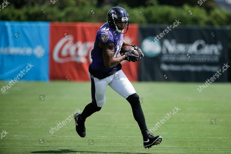 Baltimore Ravens wide receiver Michael Floyd in action during a joint NFL football practice with the Philadelphia Eagles in Philadelphia