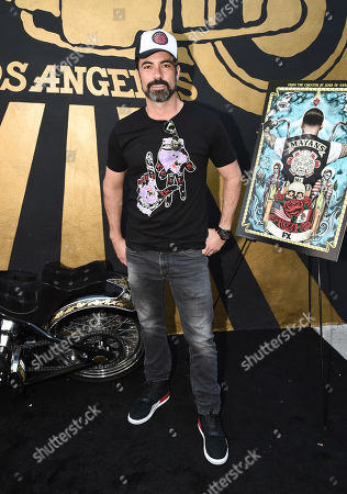 Danny Pino of FX's Mayans M.C. attends the Season 1 DVD release celebration at Heroes Motors. Mayans M.C. Season 1 in stores
