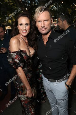 Andie MacDowell and Brian Tyler