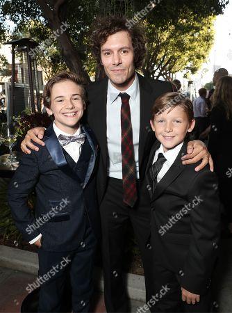 Liam Macdonald, Adam Brody and Ethan Tavares