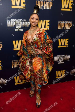 """Vina Love attends the premieres of We TV's """"Growing Up Hip Hop: New York"""" and """"Untold Stories of Hip Hop"""" at The Paley Center, in New York"""
