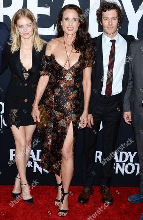 Samara Weaving, Andie MacDowell and Adam Brody