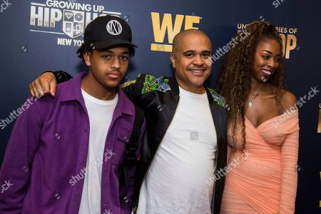 "JJ Gotti, Irv Gotti, Angie Gotti. JJ Gotti, left, Irv Gotti and Angie Gotti attend the premieres of We TV's ""Growing Up Hip Hop: New York"" and ""Untold Stories of Hip Hop"" at The Paley Center, in New York"