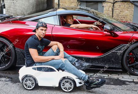 Joey Essex and Chris Eubank Jr attend the Press Launch for MTV Cribs UK.