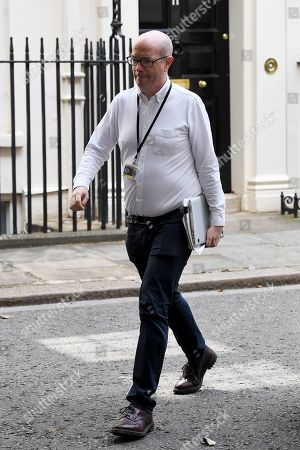 Stock Picture of Andrew Gilligan, special advisor, at No.10 Downing Street, London.