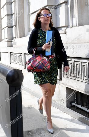 Baroness Evans, Leader of the House of Lords, arrives at the Cabinet Office, London.