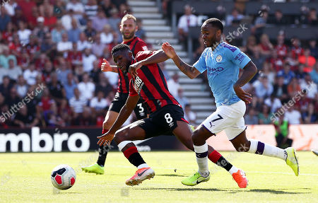 Raheem Sterling of Manchester City and Jefferson Lerma of Bournemouth.