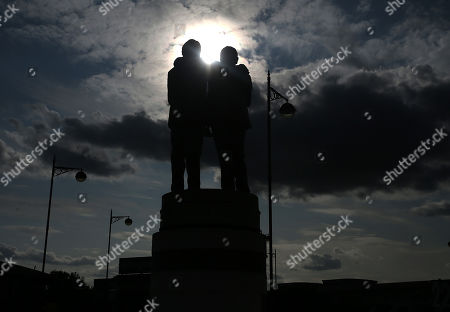 The Brian Clough and Peter Taylor statue