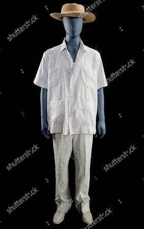 Stock Picture of John Hammond's (Richard Attenborough) costume from Steven Spielberg's Academy Award-winning action adventure Jurassic Park. Estimate: £15,000 - £25,000.