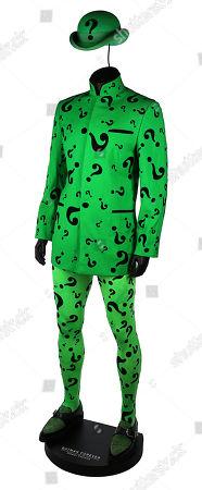 The Riddler's (Jim Carrey) costume from Joel Schumacher's superhero sequel Batman Forever. Estimate: £10,000 - £15,000.