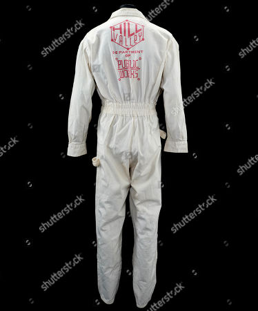 A set of Hill Valley 2015 Public Works coveralls from Robert Zemeckis' 1989 sci-fi adventure sequel Back to the Future Part II. Estimate: £1000 - £1500.