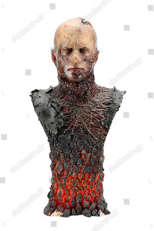 Stock Image of A custom-made replica Anakin Skywalker (Hayden Christensen) make-up bust from George Lucas' Star Wars: Revenge of the Sith. Estimate: £3000 - £5000.