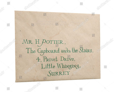 A hero envelope and letter used in Chris Columbus' fantasy-adventure film Harry Potter and the Philosopher's Stone. Estimate: £4000 - £6000.