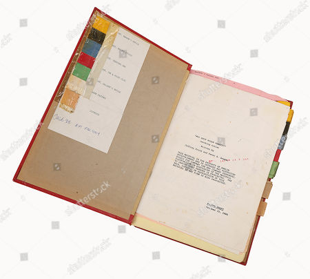 A production-used shooting script belonging to Academy Award-winning special effects artist George Gibbs, from Robert Zemeckis' detective comedy Who Framed Roger Rabbit. Estimate: £400 - £600.