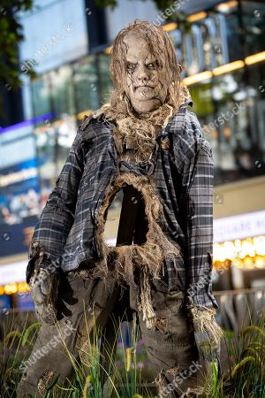 Unsuspecting Londoners were pranked in Leicester Square today by terrifying scarecrow Harold, from Guillermo Del Toro produced Scary Stories to Tell in the Dark.