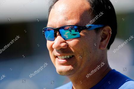 Coach of Kei Nishikori of Japan, Michael Chang