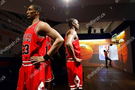 Editorial photo of NBA exhibition in Beijing, China - 20 Aug 2019