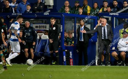 Mark Warburton - Manager of QPR & Ryan Manning of QPR