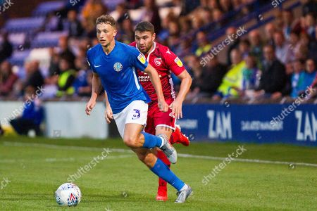 Macclesfield Town defender Eddie Clarke in action  during the EFL Sky Bet League 2 match between Macclesfield Town and Morecambe at Moss Rose, Macclesfield