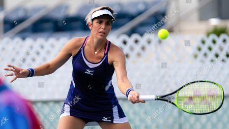 Maria Jose Martinez Sanchez of Spain playing doubles