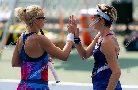 Maria Jose Martinez Sanchez of Spain & Darija Jurak of Croatia playing doubles