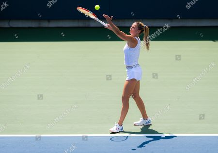 Camila Giorgi of Italy in action during the second round