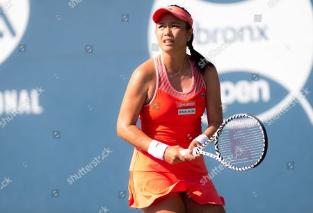 Latisha Chan of Chinese Taipeh playing doubles