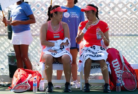 Latisha Chan and Chan Hao-ching of Chinse Taipeh playing doubles
