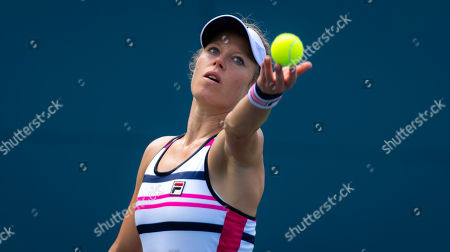 Laura Siegemund of Germany playing doubles