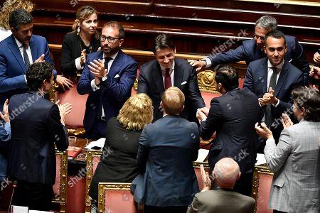 Editorial photo of Italian Prime Minister Giuseppe Conte addresses the Senate, Roma, Italy - 20 Aug 2019