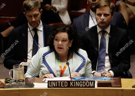 Editorial image of Security council meeting in the United Nations, New York, USA - 20 Aug 2019
