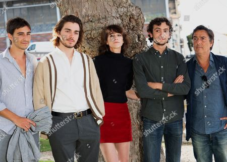 Stock Picture of Panayotis Pascot, Pablo Venzal, Ben Attal, Charlotte Gainsbourg and Yvan Attal