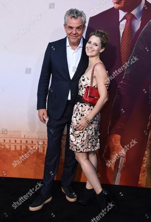 "Danny Huston, Rosie Fellner. Danny Huston, left, and Rosie Fellner arrive at the Los Angeles premiere of ""Angel Has Fallen"" at the Regency Village Theatre on"