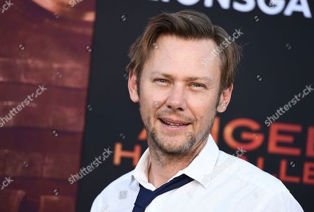 """Jimmi Simpson arrives at the Los Angeles premiere of """"Angel Has Fallen"""" at the Regency Village Theatre on"""
