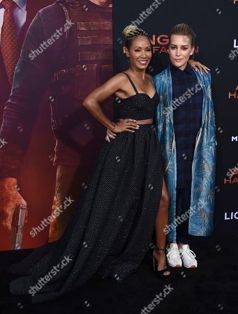"""Jada Pinkett Smith, Piper Perabo. Jada Pinkett Smith, left, and Piper Perabo arrive at the Los Angeles premiere of """"Angel Has Fallen"""" at the Regency Village Theatre on"""