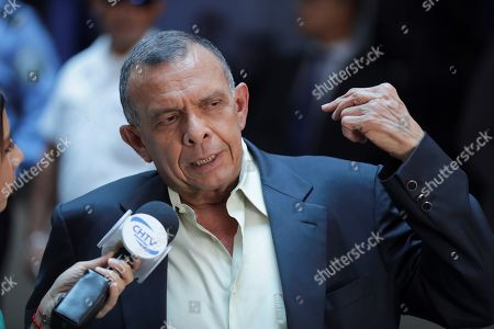 Former President of Honduras Porfirio Lobo (2010-2014) arrives to court for the trial of his wife, former First Lady Rosa Elena Bonilla, in Tegucigalpa, Honduras, 20 August 2019. Bonilla was found guilty of embezzling around 600,000 US dollar in government funds while her husband was President.