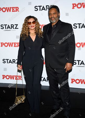 "Tina Knowles, Richard Lawson. Tina Knowles, left, and Richard Lawson attend the world premiere of the final season of the Starz television series ""Power,"" at Madison Square Garden, in New York"