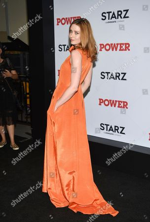 """Lucy Walters attends the world premiere of the final season of the Starz television series """"Power,"""" at Madison Square Garden, in New York"""