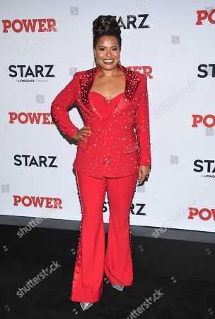 "Courtney A. Kemp attends the world premiere of the final season of the Starz television series ""Power,"" at Madison Square Garden, in New York"