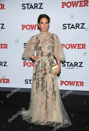 "Elizabeth Rodriguez attends the world premiere of the final season of the Starz television series ""Power,"" at Madison Square Garden, in New York"