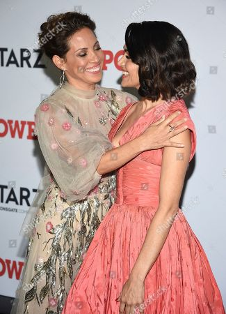 "Elizabeth Rodriguez, Lela Loren. Actors Elizabeth Rodriguez, left, and Lela Loren attend the world premiere of the final season of the Starz television series ""Power,"" at Madison Square Garden, in New York"