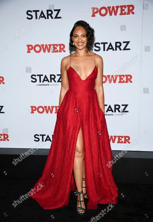 "Cynthia Addai-Robinson attends the world premiere of the final season of the Starz television series ""Power,"" at Madison Square Garden, in New York"