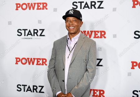 """Entrepreneur Russell Simmons attends the world premiere of the Starz television series """"Power"""" final season at Madison Square Garden, in New York"""
