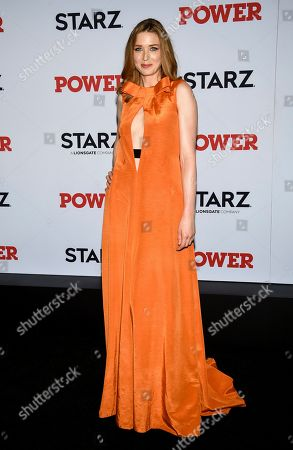 """Lucy Walters attends the world premiere of the Starz television series """"Power"""" final season at Madison Square Garden, in New York"""