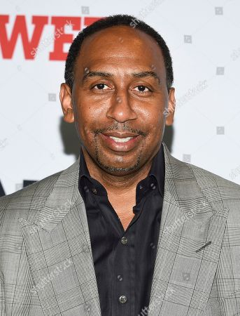 """Stock Picture of Stephen A. Smith attends the world premiere of the Starz television series """"Power"""" final season at Madison Square Garden, in New York"""