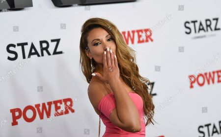"Leslie Lopez attends the world premiere of the Starz television series ""Power"" final season at Madison Square Garden, in New York"