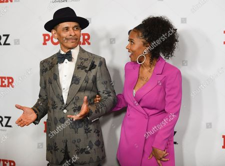"""Kenneth Michael Burke, Brieana Burke. Kenneth """"Keni"""" Michael Burke, left, and Brieana Burke attend the world premiere of the Starz television series """"Power"""" final season at Madison Square Garden, in New York"""