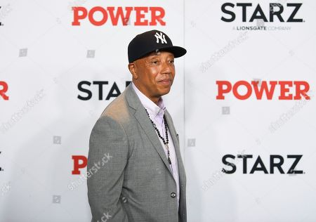 """Russell Simmons attends the world premiere of the Starz television series """"Power"""" final season at Madison Square Garden, in New York"""