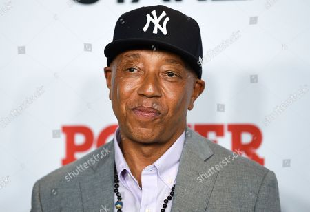 """Stock Photo of Russell Simmons attends the world premiere of the Starz television series """"Power"""" final season at Madison Square Garden, in New York"""