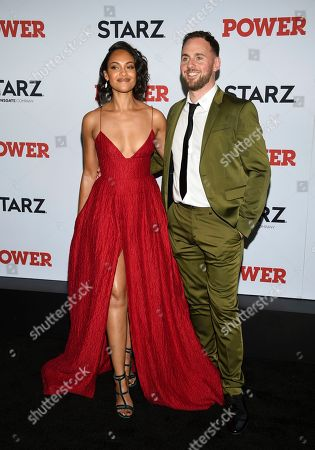 "Cynthia Addai-Robinson, left, and attends the world premiere of the Starz television series ""Power"" final season at Madison Square Garden, in New York"